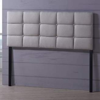Baxton Studio Bordeaux Modern and Contemporary Fabric Full Size Headboard, Multiple Sizes and Colors