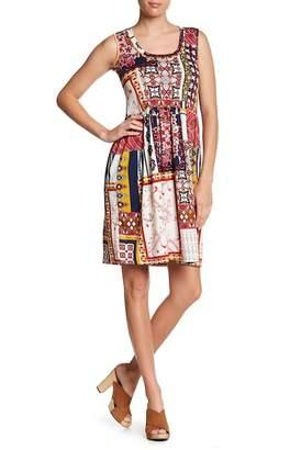 24\u002F7 Comfort Patterned Sleeveless Dress (Plus Size Available)