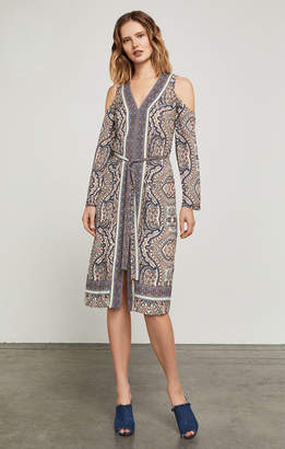 BCBGMAXAZRIA Cindi Cold-Shoulder Robe Dress