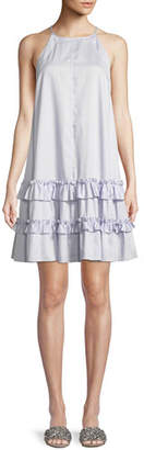 Rebecca Taylor Poplin Ruffle Tank Dress