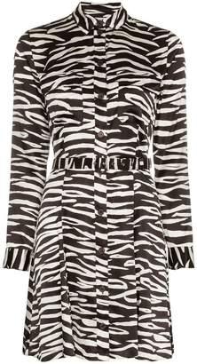Ganni Blakely Zebra Print Mini-Dress