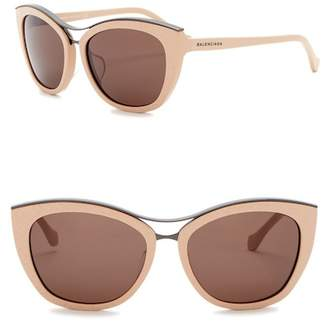 Balenciaga 57mm Acetate Cat Eye Sunglasses