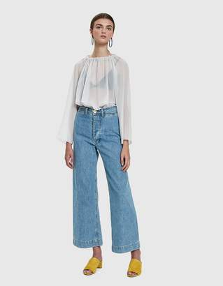 Need Sheer Anton Blouse in Ice Blue