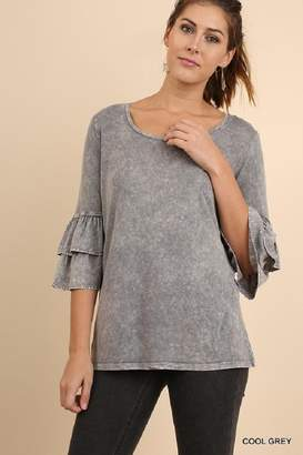 Umgee USA Ruffled Bell Sleeve