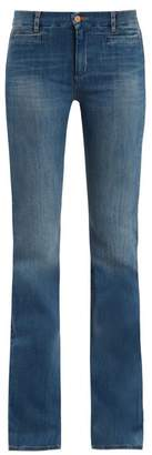 M.i.h Jeans - Marrakesh High Rise Kick Flare Jeans - Womens - Mid Indigo