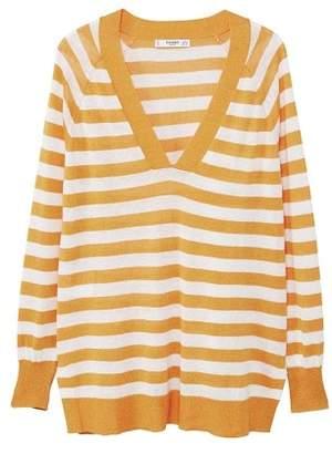 MANGO Striped linen sweater