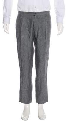 Dolce & Gabbana Houndstooth Linen Pants