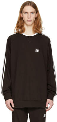 Baja East Black Stripe Sweatshirt
