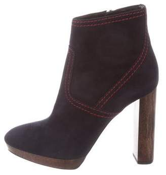 Burberry Suede Platform Ankle Boots w/ Tags