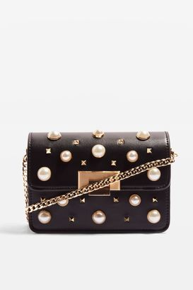 Topshop Ruby Pearl Studded Cross Body Bag