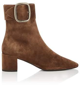 Saint Laurent Women's Joplin Suede Ankle Boots
