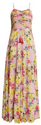 Etro Cassiopea floral-print ruched maxi dress
