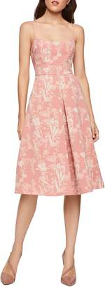 BCBGeneration Strappy Floral Fit--Flare Dress