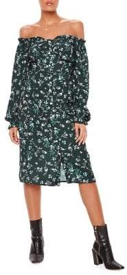 Missguided Floral-Print Shift Dress