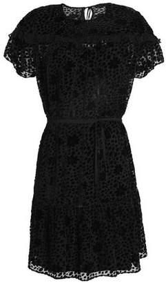 Needle & Thread Flocked Georgette Mini Dress
