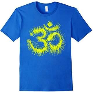 Neon Yellow Tie Dye Om Tee Shirt