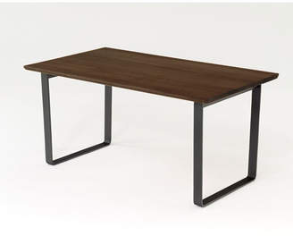 IDC OTSUKA/大塚家具 ダイニングテーブル フィル3 角・角丸天板/金属脚 W1600/オーク材DB色