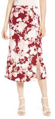 Chelsea28 Floral Print Midi Skirt