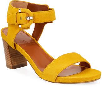 Aquatalia Brenna Suede Ankle Sandals