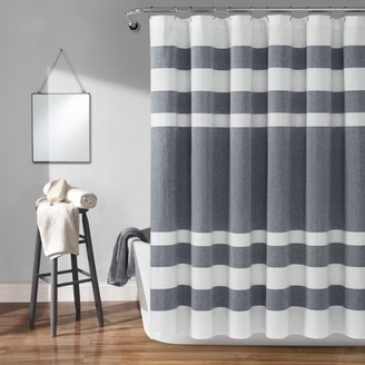 "Lush Decor Cape Cod Stripe Yarn Dyed Cotton 72""x72"" Shower Curtain"