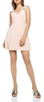 BCBGeneration Sheer Back Fit-and-Flare Dress
