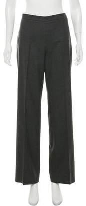 Agnona Virgin Wool Mid-Rise Wide-Leg Pants