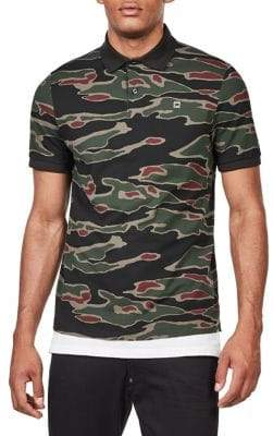 G Star Camo-Print Short-Sleeve Polo