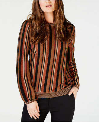 Marella Betel Striped Metallic Sweater