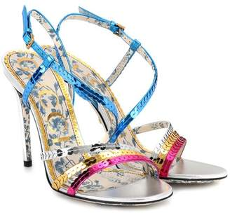 Gucci Sequinned sandals