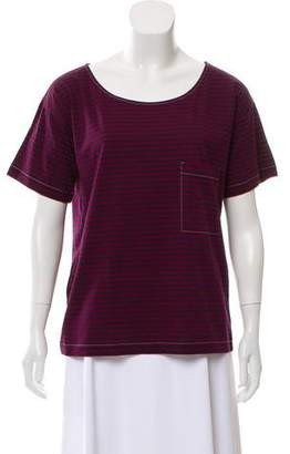 Prada Striped Short Sleeve Top