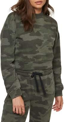 O'Neill Novie Camo Crop Fleece Sweatshirt