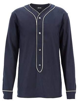 HUGO BOSS Fashion Show Capsule felt shirt with contrast piping