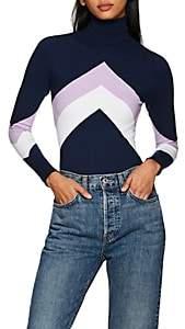 JoosTricot Women's Chevron Cotton-Blend Turtleneck Sweater