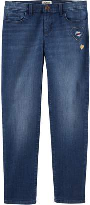 Osh Kosh Oshkosh Bgosh Girls 4-12 Embroidered Heart Jeans