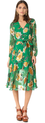 alice + olivia Coco Plunging V Neck Dress $440 thestylecure.com