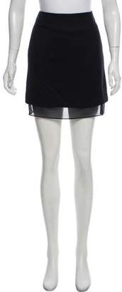 Public School Sheer-Accented Mini Skirt