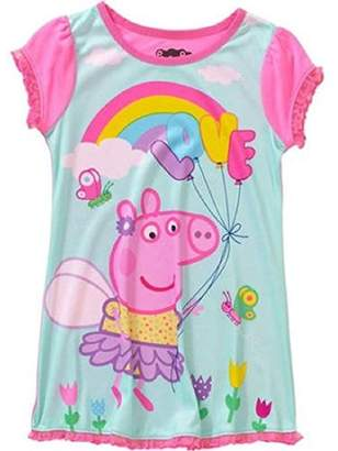 Komar Kids PEPPA PIG Girl's Size Rainbow Love Polyester Nightgown,. Gown