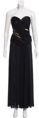 J. Mendel Strapless Evening Dress
