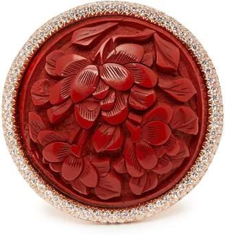 Francesca Villa Lanterne Rosse 18kt gold and diamond pavé ring
