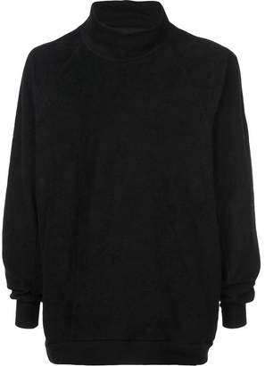 Julius textured funnel neck sweatshirt
