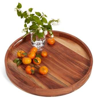 Nordstrom Large Round Acacia Wood Serving Tray