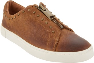 Frye & Co. & co. Leather_Zip Front Sneakers - Victoria Moto Stud