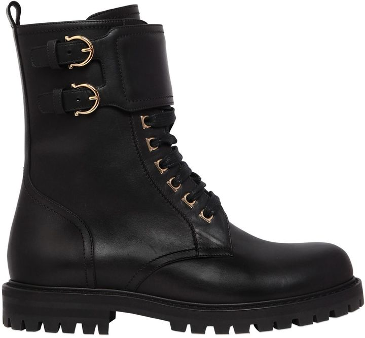 30mm Crotone Leather Combat Boots