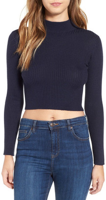 ASTR the Label &Nellie& Crop Mock Neck Sweater $88 thestylecure.com