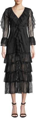 STYLEKEEPERS Celine Tiered Lace Ruffle Dress