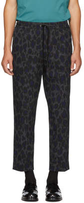 Kenzo Grey Leopard Drawstring Trousers