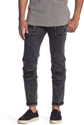 nANA jUDY Zipper Accented Tapered Jeans