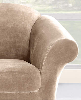 Sure Fit Stretch Plush 2-Piece Sofa Slipcover