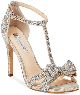INC International Concepts Women's Reesie Rhinestone Bow Evening Sandals, Only at Macy's $99.50 thestylecure.com