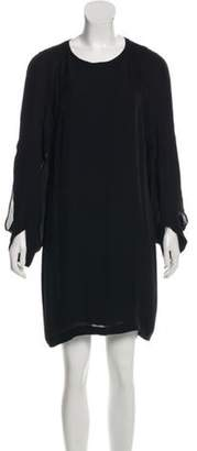 Barbara Bui Silk Long Sleeve Dress Black Silk Long Sleeve Dress